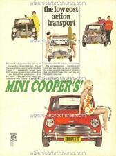 1969 AUSTRALIAN MINI COOPER 'S' A3 POSTER AD SALES BROCHURE ADVERTISEMENT ADVERT