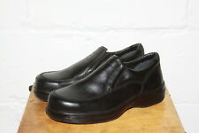 Euc Red Wing Black Leather Work Safety Slip On Steel Toe Shoes 6646 Sz 9.5 Ee