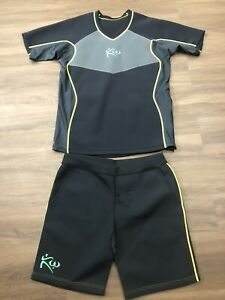 Kutting Weight Sauna Black Neoprene Shirt 4XL And Shorts 2XL Set