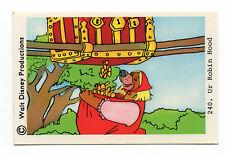 1970s Sweden Swedish Walt Disney Card - Robin Hood - Little John in disguise