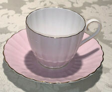 Tuscan Fine English Bone China Tea Cup & Saucer Pink Fluted
