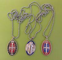 1 x Catholic St Benedict Medal Pendant Necklace PAC cross  Scapular UK SELLER