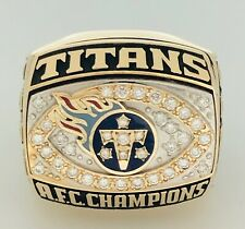 SUPER BOWL XXXIV Tennessee Titans AFC Champion 14K GOLD 💎Championship NFL Ring!
