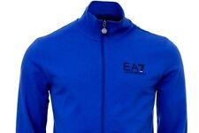Mens Emporio Armani Ea7 Logo Zip Track Top Sweatshirt Royal Blue