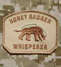 HONEY BADGER WHISPERER USA ARMY US MILITARY DESERT VELCRO® BRAND FASTENER PATCH