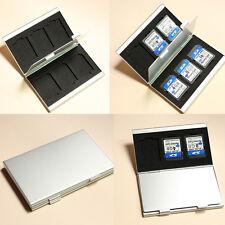 SD Speicherkarten Etui Tasche Case Box Hülle Speicher für 6 Karten Alu Card F1T8