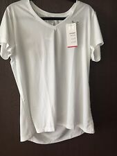 Women's Under Armour Heat Gear Shirt (New With Tags) WHITE SZ M