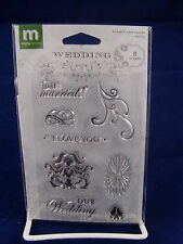 NEW MAKING MEMORIES CLEAR STAMP SET MINI IMAGES WEDDING LOVE JUST MARRIED 31752
