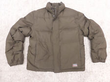 Mens Eddie Bauer Jim Whittakers Goose Down Brown Puffer Jacket - Size Small