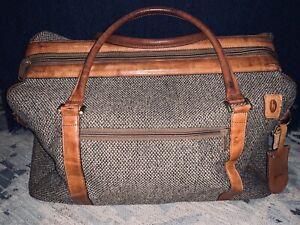 Vtg Hartmann Tweed Walnut Valise 4400 Luggage Duffle Shoulder Bag Pouch & Tags