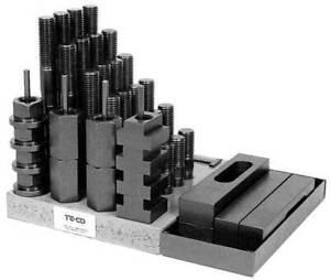 "Te-Co 1/2"" (Table T-Slot) x 3/8-16 Workholding CNC Milling Machine Clamp Kit"