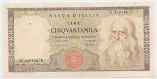 ITALY ITALIA LEONARDO DA VINCI 50000 LIRE 1974 VF