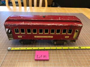 "Lionel Lines Train Standard 338 Red Cream 12"" Observation Passenger Car - Lot M"