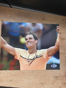 Rafael Nadal signed photo autograph 8x10 tennis french open Beckett US Open BAS