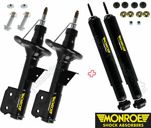 Monroe GT Gas Lowered Struts Shock Absorbers FULL Set Front & Rear Suits Holden