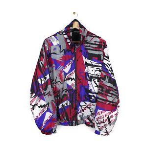Nike Vintage 90s Mens Crazy Pattern Full Zip Oversized Track Jacket - Size L