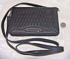 FRANCO SARTO Cross body Organizer Wallet Handbag Purse Black NICE!
