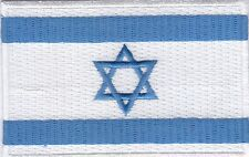 "10 Pcs Israel Flag Embroidered Patches 3.5""x2.25"""