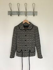 VINTAGE WOMANS 60s NABRETTA WELSH WOOL STYLE TAPESTRY COAT JACKET 50S MOD A388