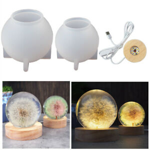 Night Light Resin Casting Silicone Mould Ball LED Lamp Holder Stand Epoxy Craft