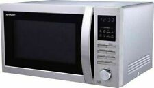 SHARP R-322STM 25L Solo Microwave Oven, Stainless Steel, 900W