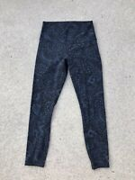 LULULEMON Active Leggings Women's Size 6 Paisley Nouveau Match Blue Black NEW