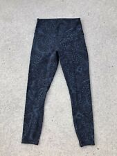 LULULEMON Active Leggings Women's Leggings Size 6 Black/Submarine Paisley NEW