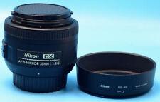 Nikon Nikkor AF-S DX 35 mm F/1.8G Lens (JAA132DA) Exc+++++++W/Caps hood