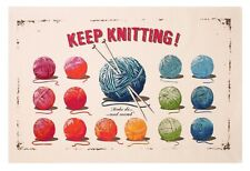 Ulster Weavers Keep Knitting Tea Towel Wiscombe Knit Cotton Wool Craft Gift