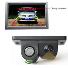 2 in 1 Night Vision Radar CCD Autos Reversing Rearview Backup Parking Camera Kit