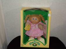 Vintage Cabbage Patch Kids Doll Blonde braids pigtails Girl Looped Hair Boxed!