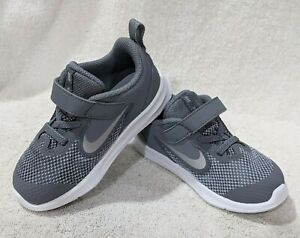 Nike Downshifter 9 (TDV) Cool Grey/Silver Toddler Boy's Shoes-Sz 6/7/8/9/10C NWB