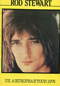 1976 Rod Stewart Concert Program UK Europe Tour Book A Night On The Town