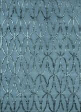 Hand Made Silver Blue Color Wool and Viscose 5X8 Feet Geometric Sheen Soft Rug