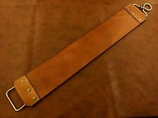 More details for 40x7 cm handmade straight razor-sharpening tool- double side leather strop-p6