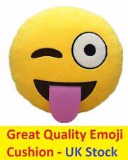 Tongue Cheeky Emoji Emoticon Plush Soft Cushion Pillows Smiley Birthday Fun Gift