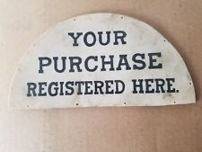 Two Antique Lamson Pump Cash Register Signs