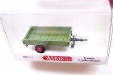 HO scale Wiking 1949 Fortuna Green Single-Axle FARM TRAILER  # 88738 :1/87 Model