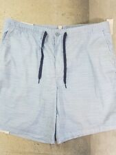 Izod Saltwater Mens Shorts Casual Cotton Size 38 Dockside Blue NWT