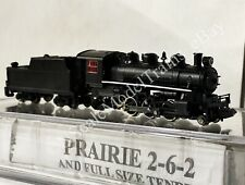 N Scale Bachmann Prarie 2-6-2 With Full Size Tender DC Only Painted Unlettered
