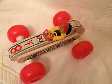 Fisher Price Vintage Race Car Pull Toy