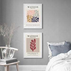 Home Hanging Decor Print Paper Canvas Wall Art Matisse Wall Art 2 sets poster
