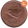1937 - 1956 FARTHING COINS GEORGE VI ERII CHOICE OF YEAR DATE BUY 3 GET 1 FREE!!