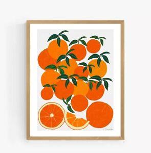 JOHN LEWIS Leanne Simpson - Orange Harvest Framed Print, 52 x 42cm, Orange