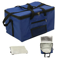 Large Portable Cool Bag RED BLUE 26L Insulated Thermal Cooler Food Drink