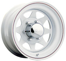 "4-NEW Pacer 310W White Spoke 16x7 5x139.7/5x5.5"" +0mm White Wheels Rims"