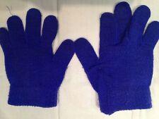 Guanti di colore blu scuro - senza etichette - lunghi 17 cm - larghi 13 cm USATI