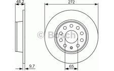 BOSCH Juego de 2 discos freno Trasero 272mm RENAULT MASTER BMW 0 986 479 677