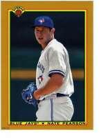 Nate Pearson 2020 Bowman 1990 Bowman 5x7 Gold #90B-NP /10 Blue Jays