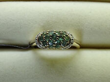 Rare Natural Colour Change Alexandrite & Zircon 10K Gold Ring Size N-O/7